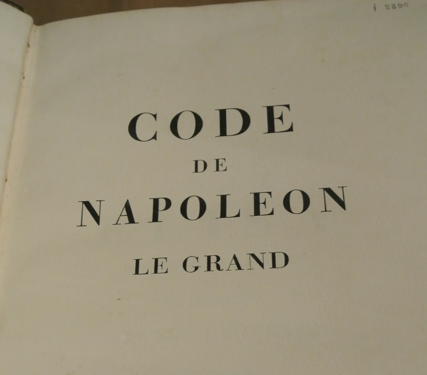 napoleonic code vs bill of rights Women and the napoleonic code bonnie by the juristsc legislators thus used the law officially to carve out a private space for women in which they had no rights.