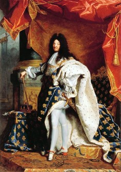 Louis XIV, Sun King, painter Rigaud