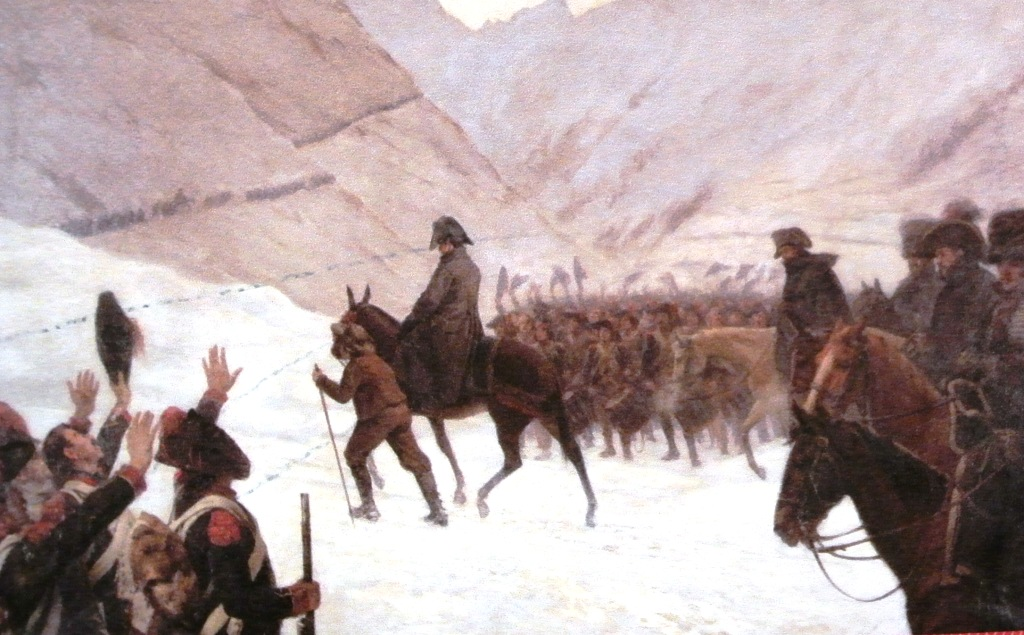 Napoleon Crossing the Alps painting Boislecomte