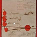 Campoformio peace treaty, Napleon, Napleon's signature