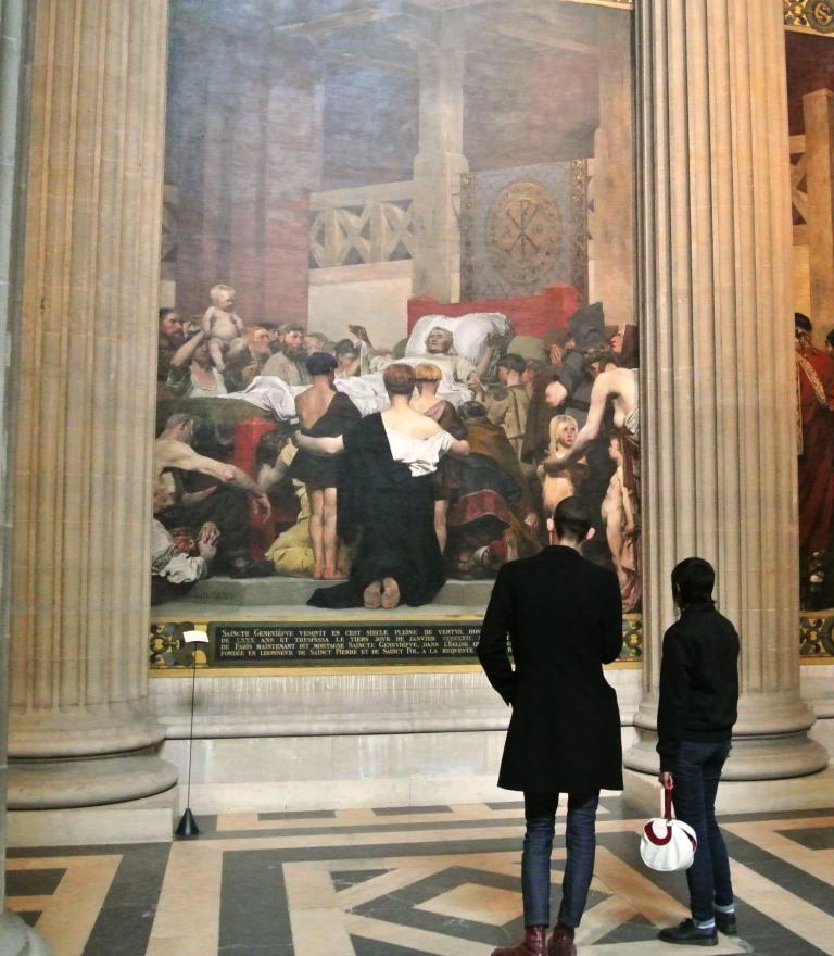 st. Genevieve, Pantheon, Paris