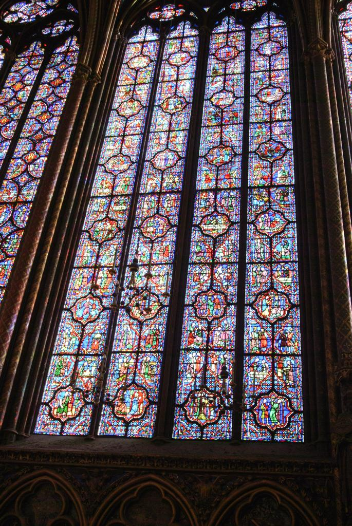 St Chapelle, stained glass window, Paris