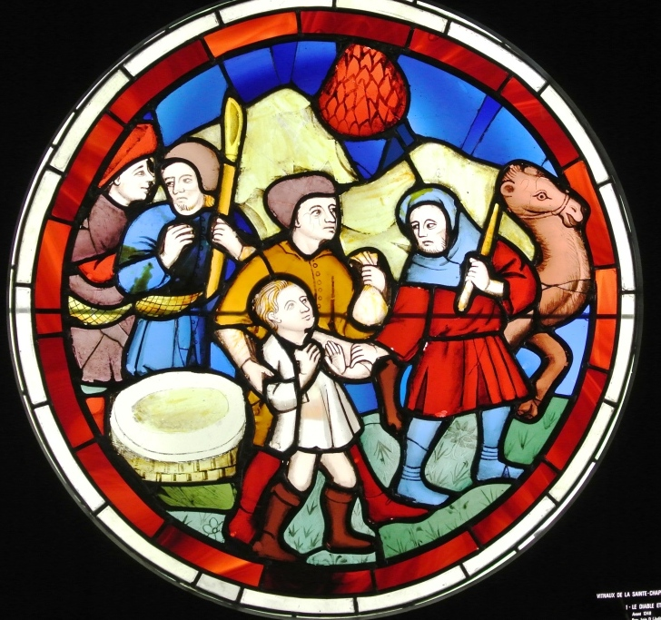St. Chapelle, Cluny, stained glass window, Paris